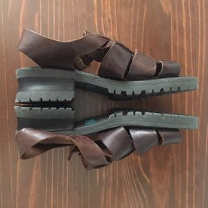 Huarache leather sandals